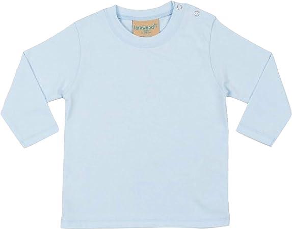 Larkwood- Camiseta de manga larga lisa para bebé unisex (0-6 meses) (Azul palo)