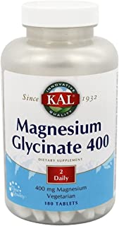 KAL Magnesium Glycinate 400 | 90 Serv. 180 CT