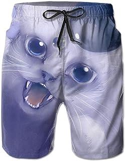 Hombres Ropa de Playa de Secado rápido Trajes de baño Shorts de Tablero Bañador Cat Drop Bubble XX-Large