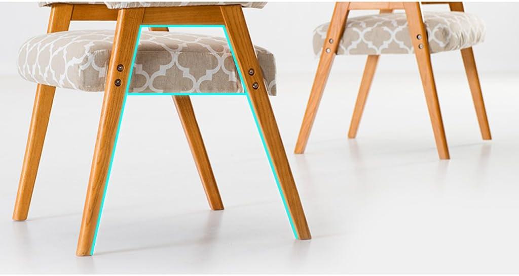 HXF- Bois Massif Minimaliste Moderne avec accoudoirs Chaise Tissu dinant la Chaise Durable (Color : D) D