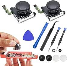 Pakesi 2pcs 3D Analog Joystick Thumb Sticks Sensor Replacement Suitable for Nintendo Switch NS Joy-Con Controller with Repair Tool