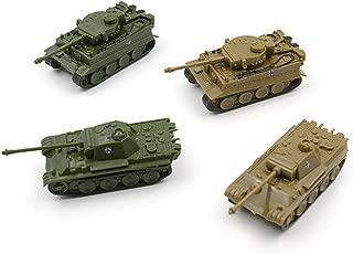 Baidercor Army Figures Toys 1:144 Military Tanks Models Set of 4 Mini-Sized