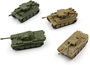 Baidercor Army Figures Toys 1:144 Military Tanks Models Set of 4 Mini-Sized