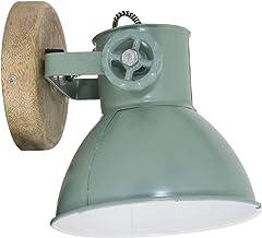 Light & Living Wandlamp/plafondlamp Elay - groen/hout - 20 x 18 x 19 cm