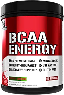 Evlution Nutrition BCAA Energy - Essential BCAA Amino Acids, Vitamin C + Natural Energizers for Performance, Immune Suppor...