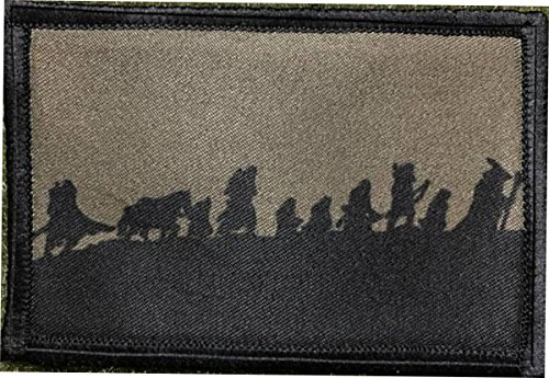 Fellowship of The Ring Morale Patch. Perfect for Your Tactical Military Army Gear, Backpack, Operator Baseball Cap, Plate Carrier or Vest. 2x3 Hook Patch. Made in The USA