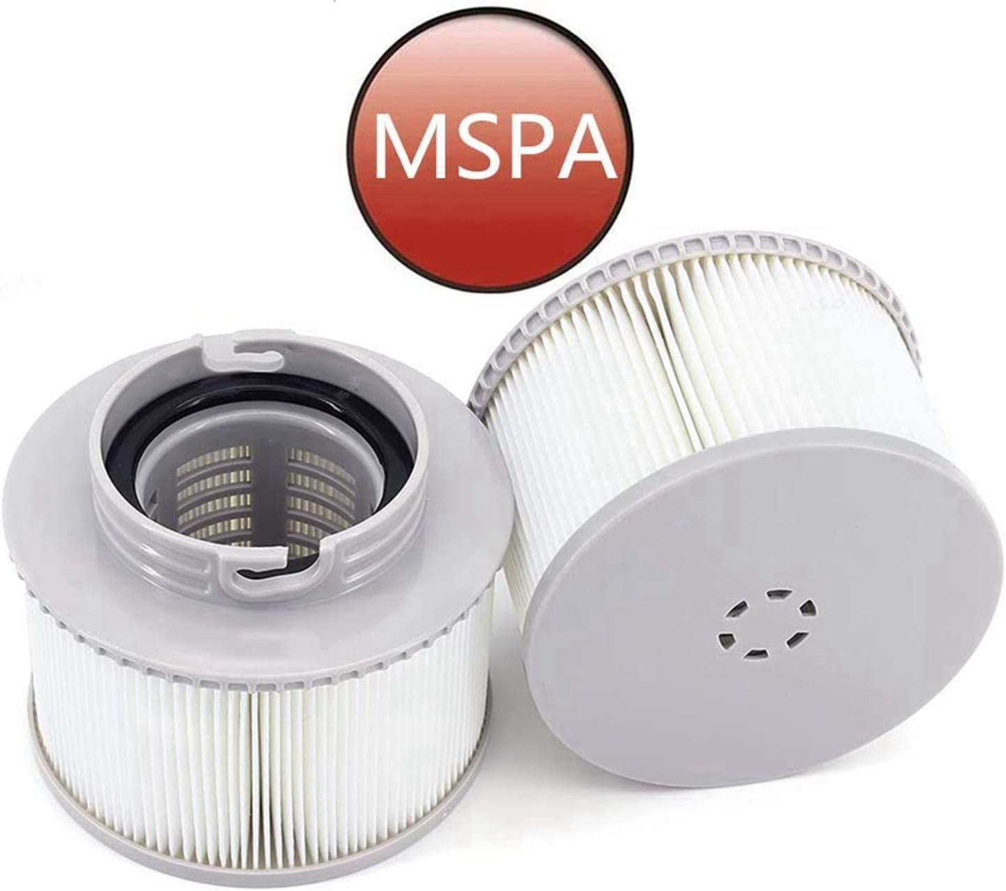 Bduck Lot de 4 filtres MSPA pour tous les mod/èles de spas de piscine 2 pi/èces spas bac gonflable cartouches filtrantes de rechange pour MSPA maintien propre