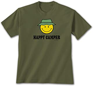 Happy Camper - Unisex Military Green T-Shirt