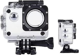 TEKCAM Action Camera Waterproof Case Underwater Protective Housing Case Compatible with AKASO EK7000 EK5000/ DBPOWER EX5000/ WiMiUS Q1Q2/ Vemont/APEMAN/EKEN H9R 4K Sports Camera
