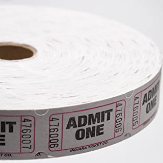 White Admit One Ticket Roll