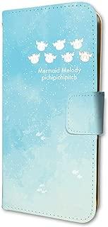 マーメイドメロディーぴちぴちピッチ 01 シルエットデザイン(グラフアート) 手帳型スマホケース(iPhone6 6s 7 8兼用)