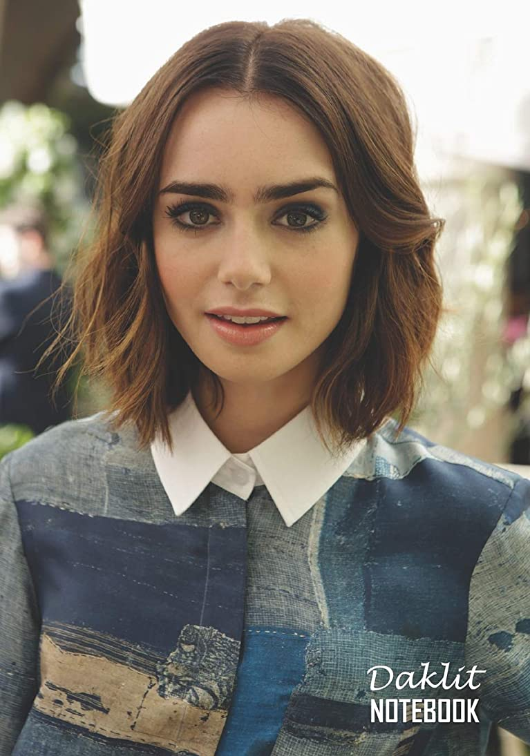 匹敵しますラジカル静脈Notebook: Lily Collins Medium College Ruled Notebook 129 pages Lined 7 x 10 in (17.78 x 25.4 cm)