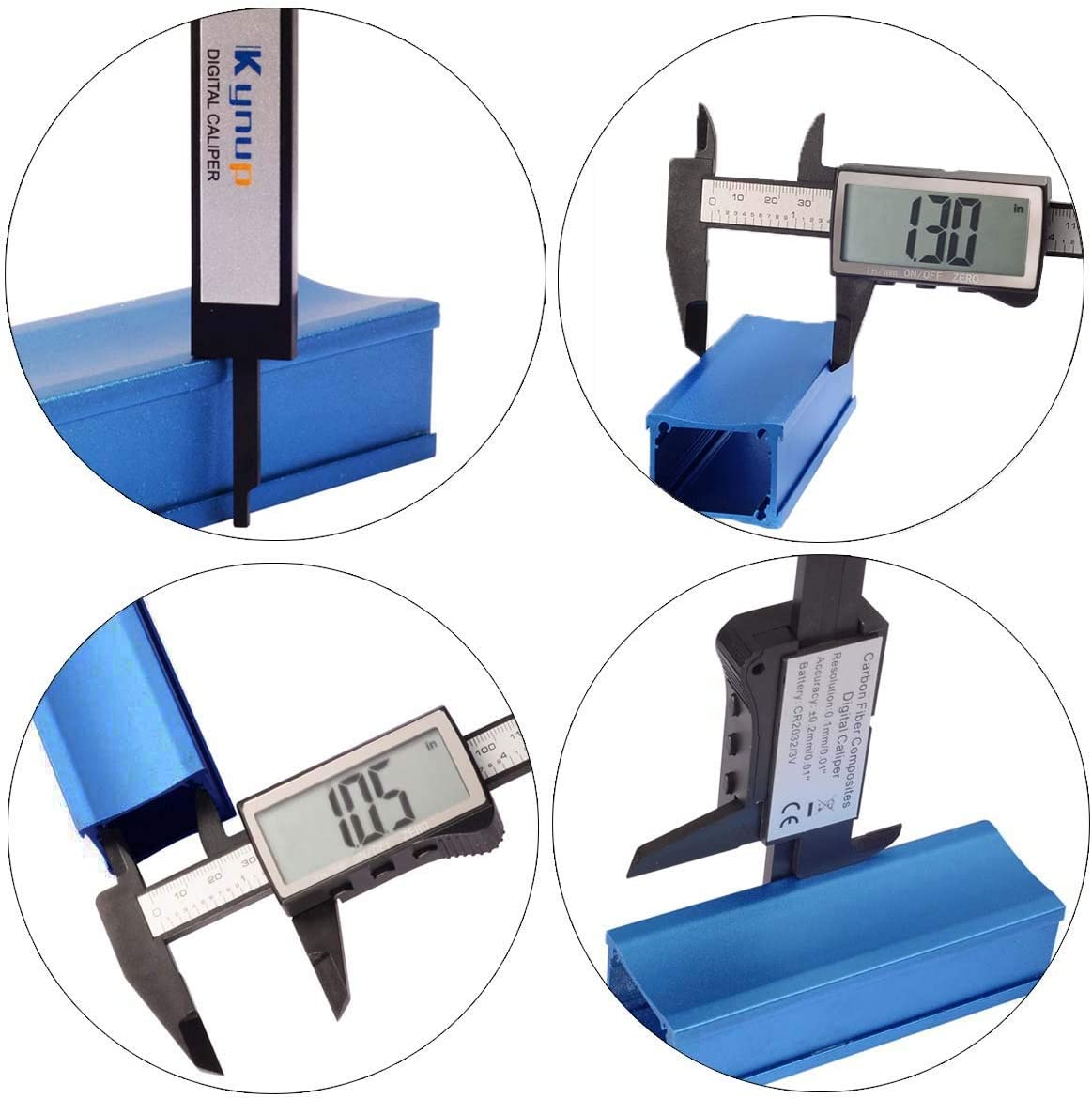 Kynup Digital Caliper 6Calipers Measuring Tool Micrometer Caliper with Large LCD Screen Auto-Off Feature Inch and Millimeter Conversion