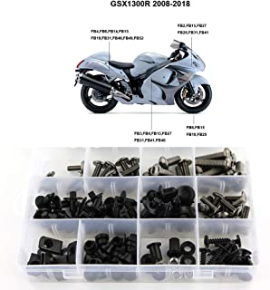 Xitomer Complete Bodywork Screws, for Suzuki GSX1300R HAYABUSA 2008 2009 2010 2011 2012 2013 2014 2015 2016 2017 2018 2019, Full Set Fairing Bolts/Washers/Nuts/Clips/Grommets (Titanium)