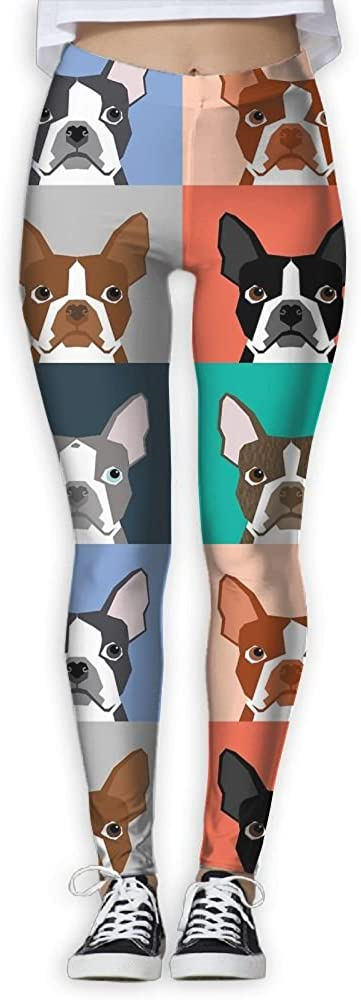 Tile Pattern Repeat Cute Dogs Puppy Boston Terrier Women's Activ