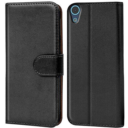 Verco Desire 626G Hülle, Handyhülle für HTC Desire 626G > 626 Tasche PU Leder Flip Case Brieftasche - Schwarz
