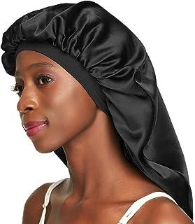 Double-Layer Satin Sleep Cap for Long Hair, Braids, Dreadlocks, Curly Hair