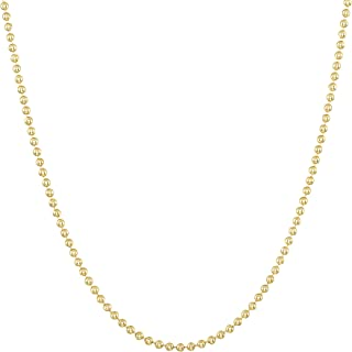 14k Gold-Filled Ball Beaded Chain 1.5MM Necklace Gauge 14 Pendant for Jewelry 16-18 - 20-24 - 30-36 Inches Finish Chains