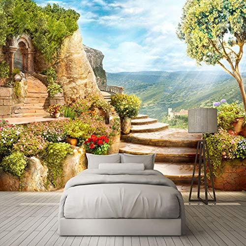 3D Wallpaper Garten Landschaft Natur Wand Wandbilder Wohnzimmer Schlafzimmer Home Decor Hintergrund Wandverkleidung Wasserdichte Wandtuch Fresko,300 * 210Cm