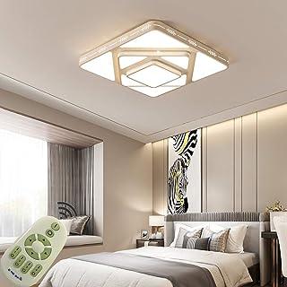 LED Lámpara de Techo 64W Interior Plafón Moderna LED de Techo Rectangular De Dormitorio Cocina Sala de estar Comedor Balcón Pasillo (Regulable 3000-6500K)