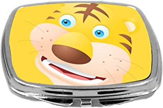 Rikki Knight Compact Mirror, Tiger Cartoon Face