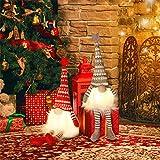 MTaoyac Weihnachten Deko Wichtel 49 cm Hoch, Schwedischen Weihnachtsmann Santa Tomte Gnom, Festliche Verpackung, Skandinavischer Zwerg Geschenke für Kinder Familie Weihnachten Freunde(2 Stücke) - 5