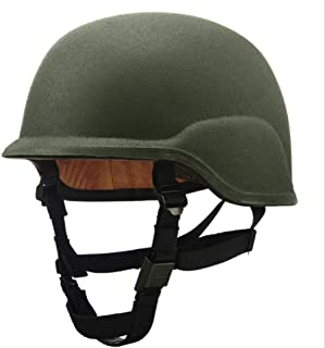 Hyuanpower PASGT M88 Super Level Protection Kevlar Anti-Shooting Helmet Full Head Coverage with Adjustable Chin Strap for Important Person's Safety of Spearing Hunting Ball Rapid Shooting Points
