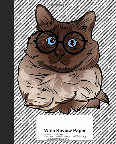 Wine Review Paper: Book Balinese Cat (Weezag Wine Review Paper Notebook, Band 103)