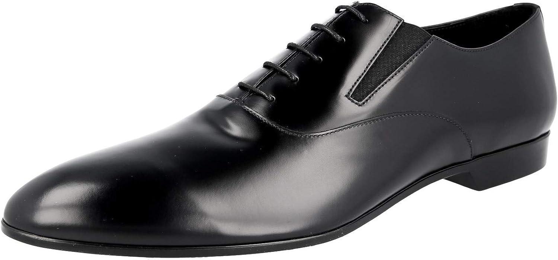 Prada 2EG206 B4L F0002 Herren Business-Schuhe aus gebürstetem Spazzolato-Leder