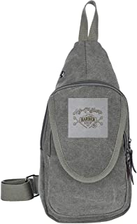 AHISHNF My T Sharp Barber Shop Queens Coming To America Bolsas de pecho para hombres y mujeres Multiusos Casual Daypack Se...
