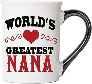Cottage Creek Nana Mug Large 18 Ounce Ceramic World's Greatest Nana Coffee Mug/Nana Cup Nana Gifts [White]