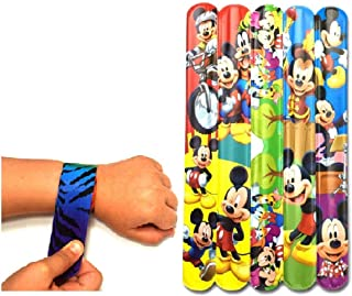 monkey tail mickey mouse theme slap bracelet bands (pack of 12) birthday return gifts for boys and girls /navrathri/diwal...