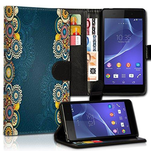 wicostar Wallet Book Style Flip Handy Tasche Hülle Schutz Hülle Schale Motiv Etui für LG L Bello - Variante UMV28 Design10