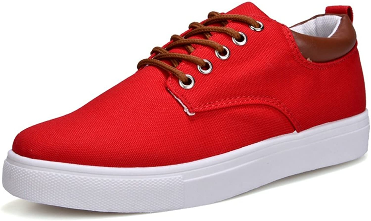RENMEN Canvas shoes men's wild casual shoes trend large size shoes 39-46, Red