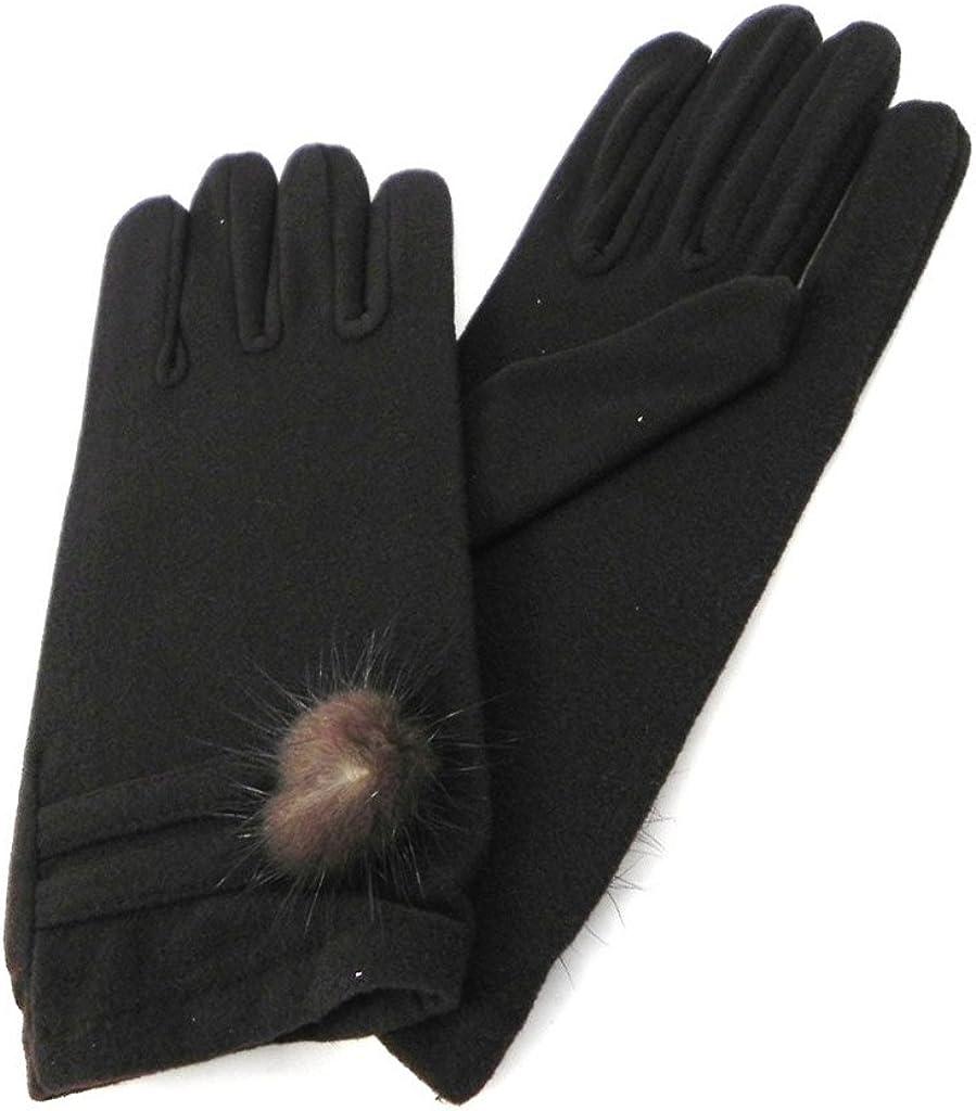 Gloves for women 'Clothilde' dark brown.