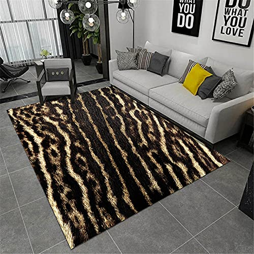 AU-OZNER rugs for girls bedrooms,Animal elements pattern, black carpet leisure resistant to wear baby crawling comfortable carpet,extra large rugs -black_100x220cm