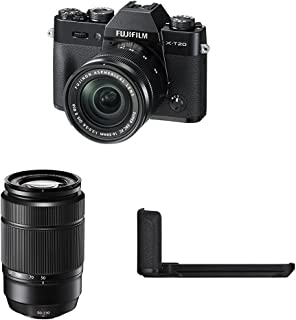 Fujifilm X-T20 Mirrorless Digital Camera w/ XC16-50mm Black Lens + XC50-230mm Black Lens + Black Hand Grip