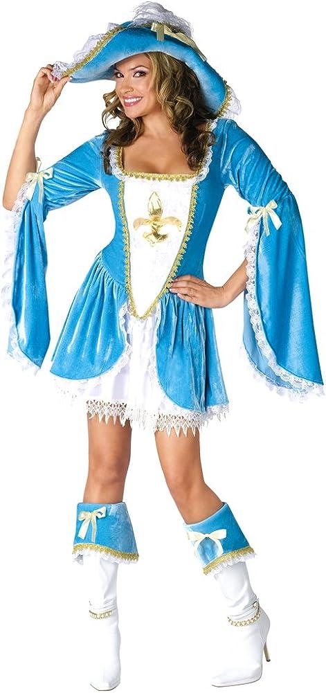 Fun World Women's 2021 model Quality inspection Madam Musketeer Medium Costume Small