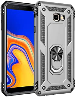 Ikwcase Galaxy J4 Plus Case, Dual Layer Tough Rugged Ring Holder Stand Armor Shockproof Drop Protection Case Cover for Sam...
