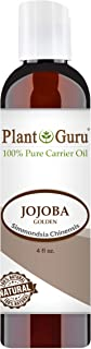 Jojoba Oil 4 oz Cold Pressed Carrier 100% Pure Natural For Skin, Body, Face, and Hair Growth Moisturizer. Great For Creams, Lotions, Lip balm and Soap Making
