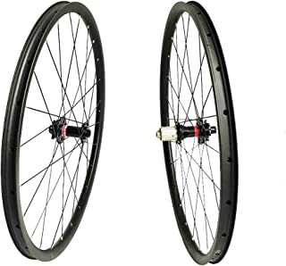 Acesports Carbon Fiber Mountain Bike Wheels 27.5er Clincher MTB Superlight Asymmetric Hookless Bicycle Wheelset Novatec D771-772SB Hub