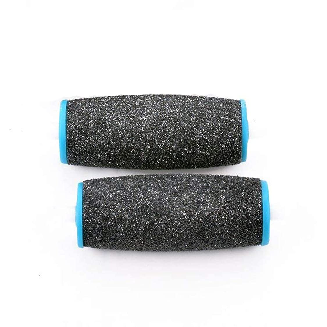 ナイロン品種バクテリアViffly ベルベットスムーズ 電動角質リムーバー ダイヤモンド リフィル エキストラ かたい角質用 2個セット (ブラック+ブルー)