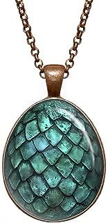 Dragon Egg Pendant, Game of Thrones Necklace, Geek Jewelry, Girl Gift, Birthday Gifts, Khaleesi, Daenerys Targaryen