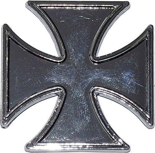 carstyling XXL Relief-Chrome-Tattoo Iron Cross ~ schneller Versand innerhalb 24 Stunden ~