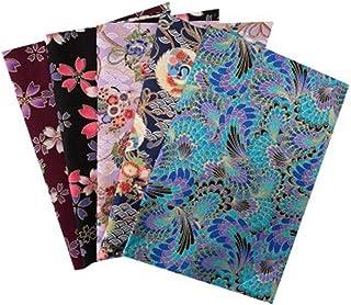 Nicole Knupfer 5/8pcs Style Japonais Textile Tissu Coton Carrés DIY Patchwork Tissus Textile Carrés (#8)