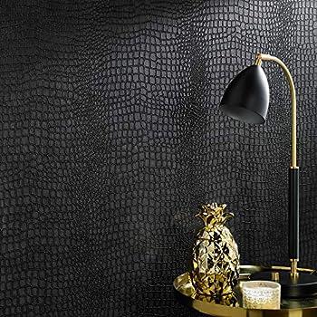 Graham & Brown 32-659 Superfresco Easy Crocodile Black Wallpaper