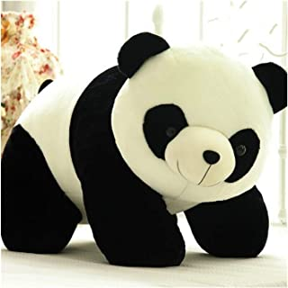 HLH Giant Panda Pluche Speelgoed Zwart Wit Grote Teddy Bear Zachte Gevulde Dieren Speelgoed Pop Katoen Gift Verjaardag Bel...