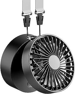 EasyAcc Mini Ventilador de Suspensión Batería Recargable 2600mAh USB Plegable con 3 Ajustable 3-10H Horas de Trabajo Personal Ventilador Pequeño Viajes Camping Al Aire Libre - Negro