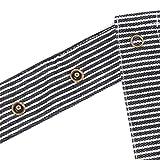 ZOLLNER Kochschürze verstellbar aus Baumwolle, 75x100 cm, schwarz/weiß (UVM.) - 6