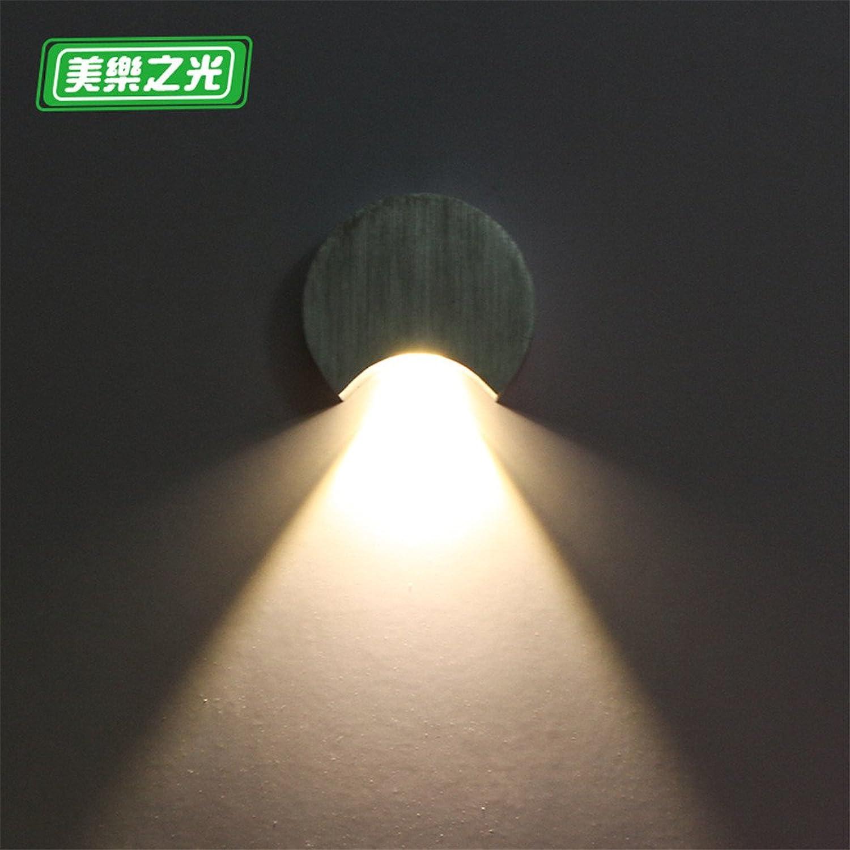 StiefelU LED Villa LED Wandleuchten Bild leuchtet Ecke leuchten Schlafzimmer Wand lampe Nachttischlampen, 10 cm Durchmesser 3 cm von der Wand, warmes Licht